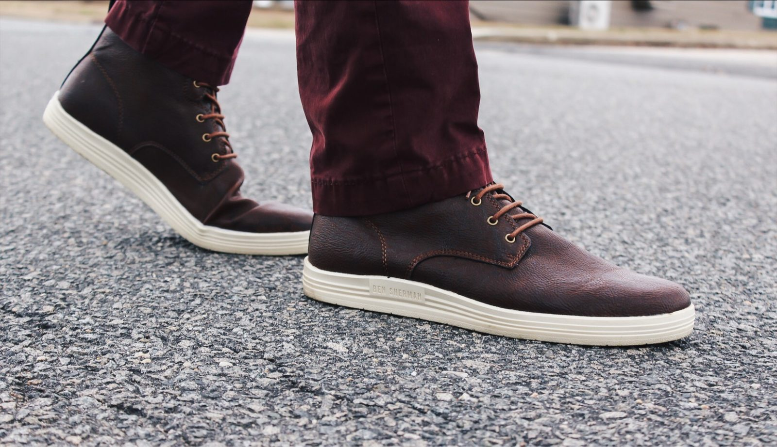 ben sherman brown leather shoes