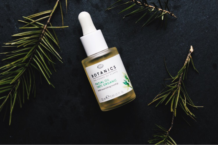 flat lay botanics facial oil
