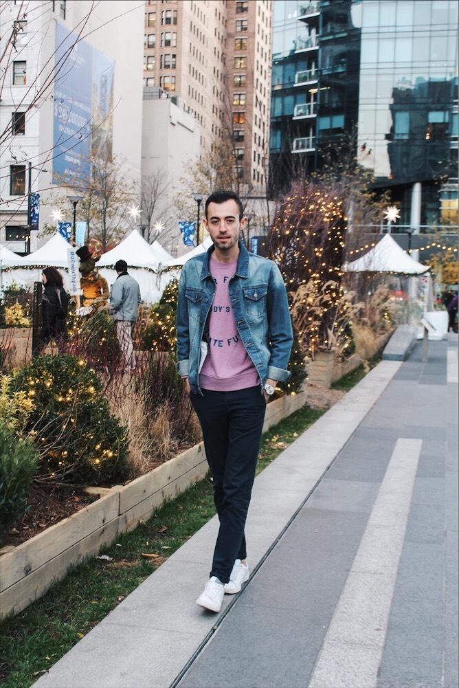 alex walking down the street