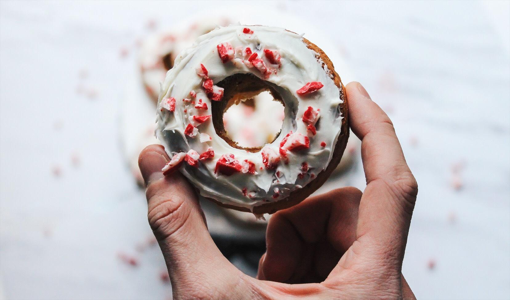 donut in hand
