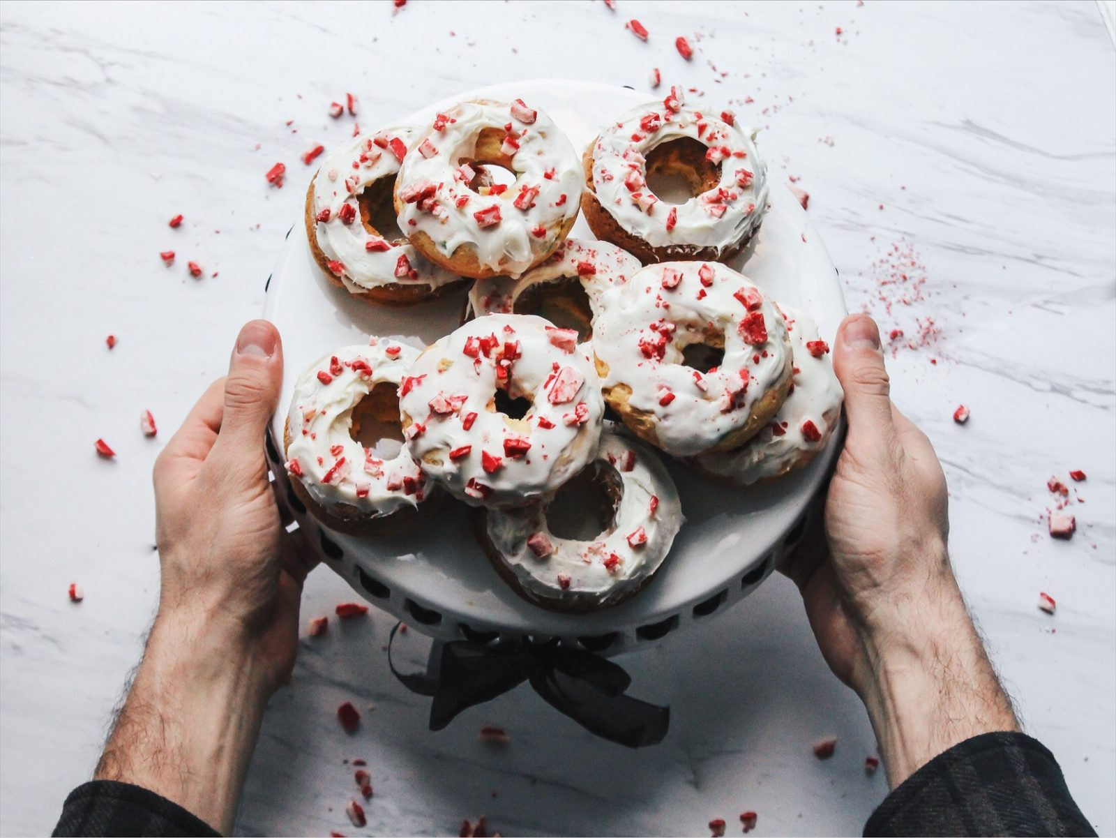 HOLIDAY PEPPERMINT DONUTS