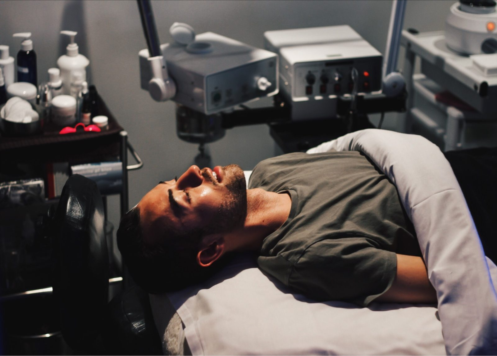 alex getting his hydrafacial