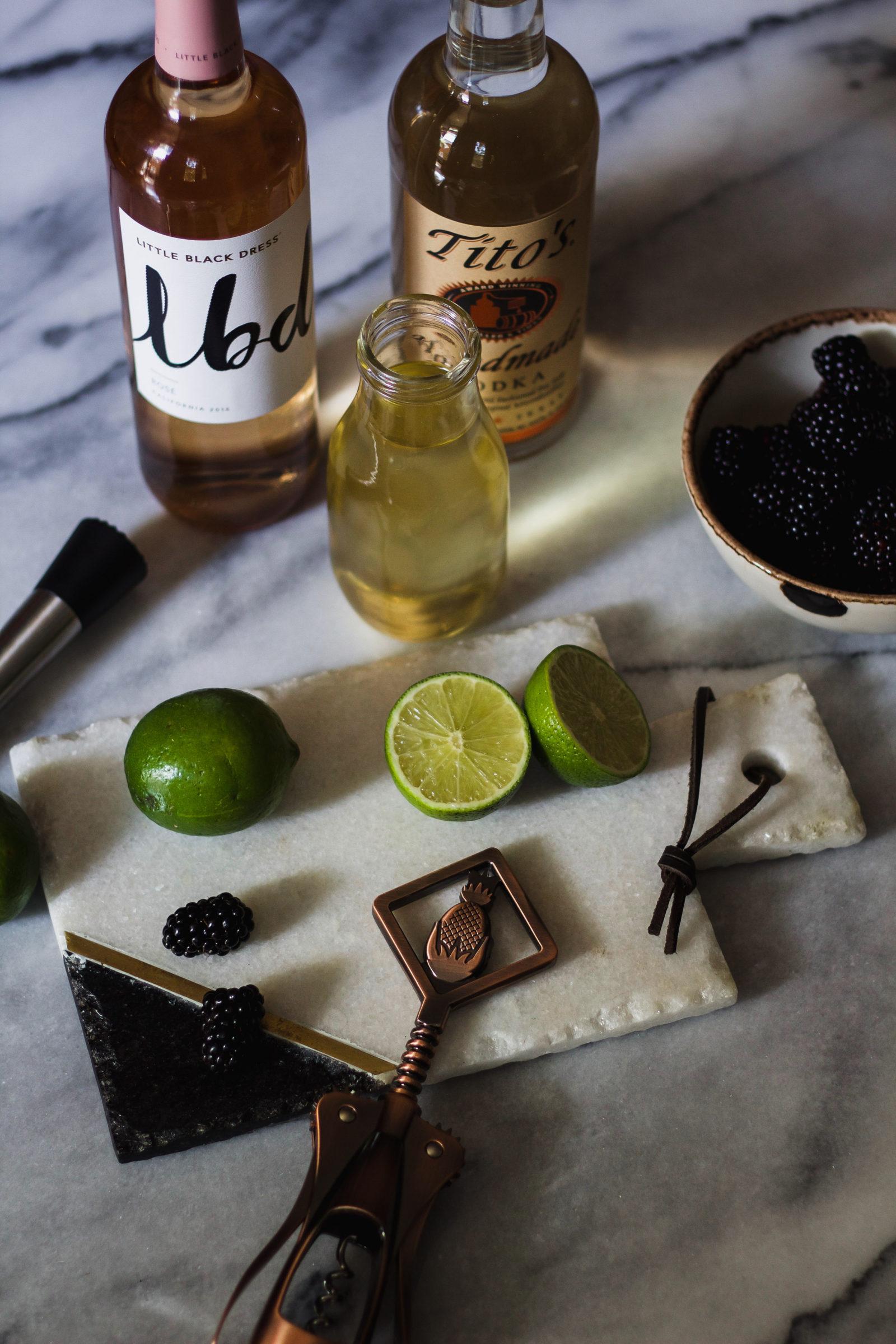 black rose wine cocktail