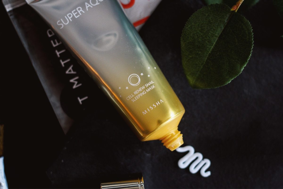MASK MONDAY: MISSHA SUPER AQUA CELL RENEW SNAIL SLEEPING MASK