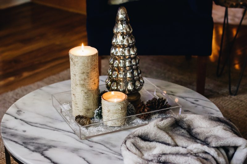 DIY holiday coffee table